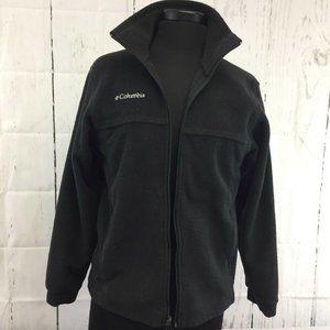 Columbia Womens Fleece Black Size 14 16 Zipper Poc